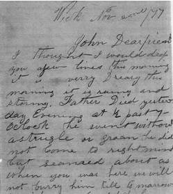 Part of Letter from Ralph Gorrell to J.W. McCoy (courtesy Ellen Sutton)