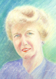 Beautiful pastel drawing of Kathryn Wiske by her daughter Jane Wiske McCoy