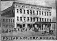 Picture of Pollak & Co. from a Montgomery Alabama Panoramic Map located inin the Alabama Archives, Montgomery Alabama