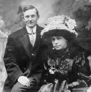 Wedding Photo of Paul McCoy and Irma Pollak 9 Feb 1909, NYC (family photo)